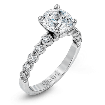 Round Solitaire White Gold Engagement Ring