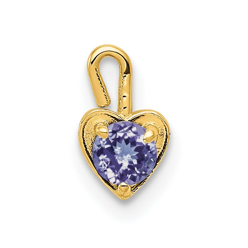 Quality Gold 14ky June Synthetic Birthstone Heart Charm