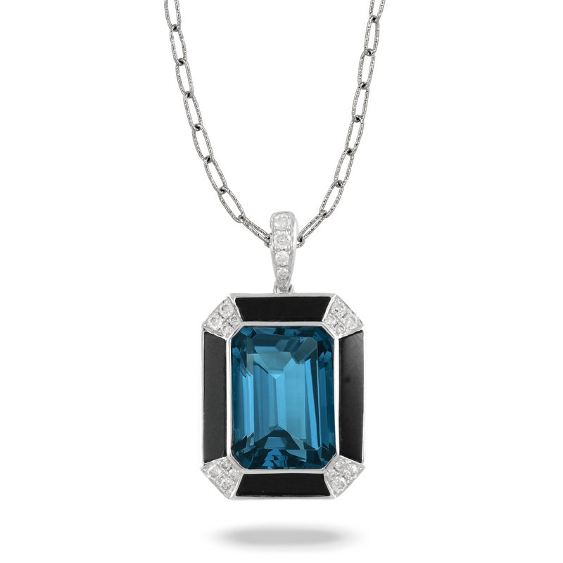 Doves London Blue Topaz Pendant