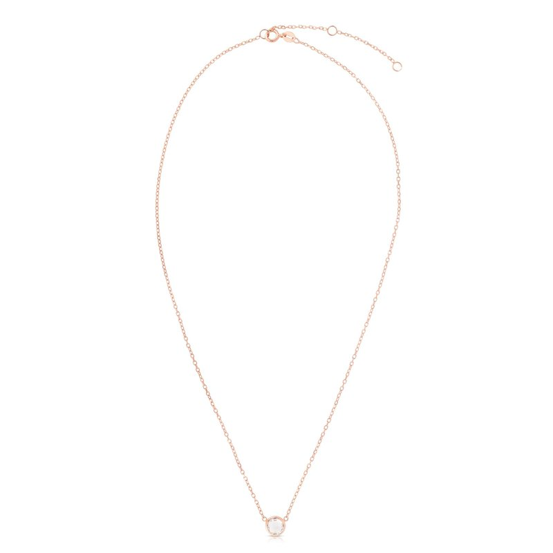 Royal Chain 14K Gold & White Topaz Solitaire Necklace