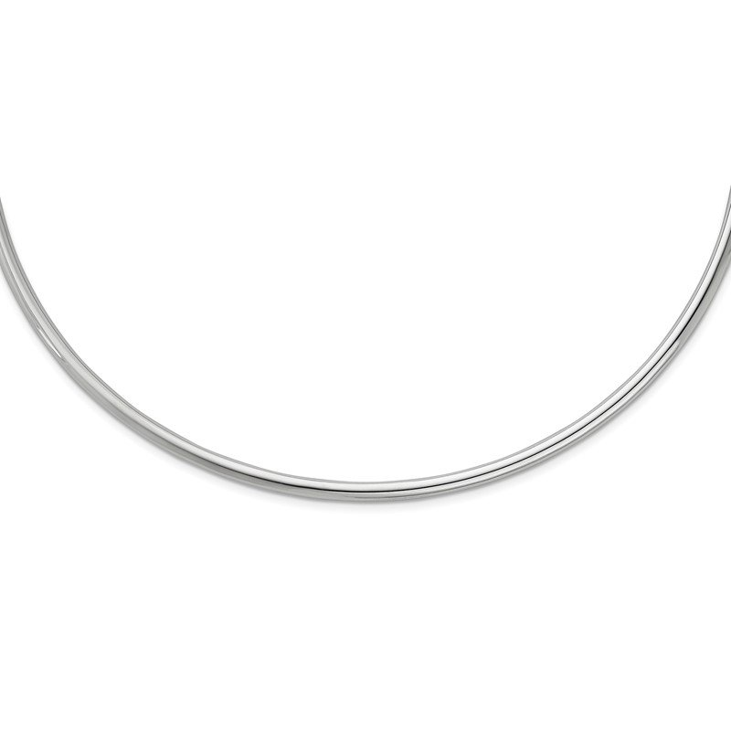 Sterling Silver Rhodium-plated Neck Collar Necklace