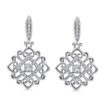 Diamond Earrings in 14K White Gold (1/4 ct. tw.)