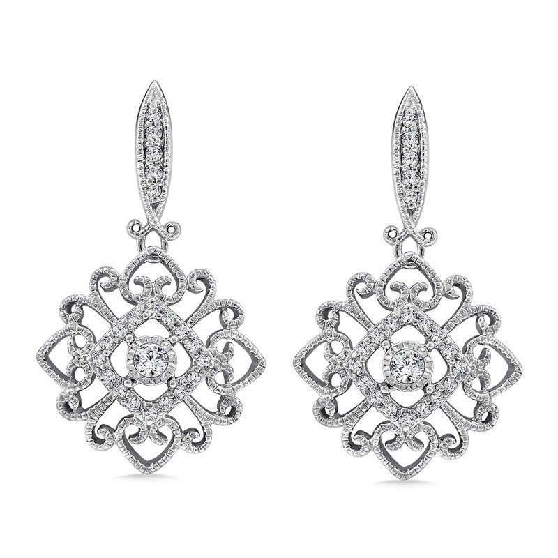 SDC Creations Diamond Earrings in 14K White Gold (1/4 ct. tw.)