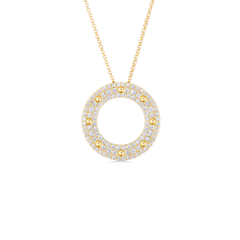 #4797 Of Circle Pendant With Diamonds