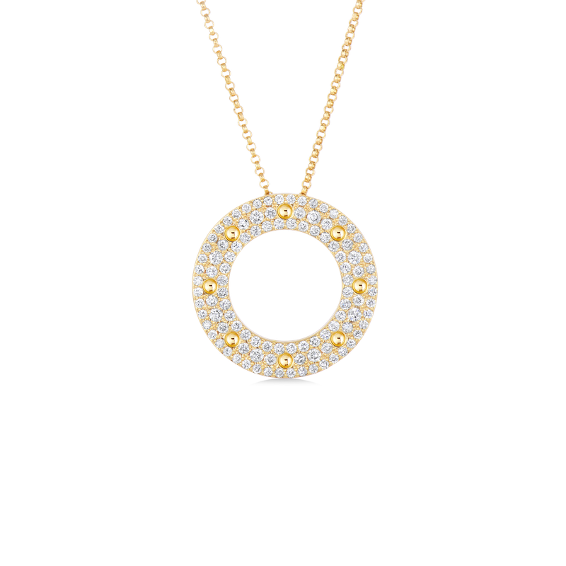 Roberto Coin  #4797 Of Circle Pendant With Diamonds