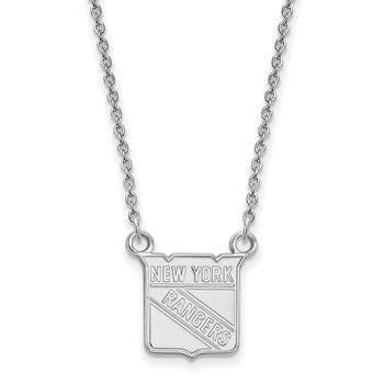 Sterling Silver New York Rangers NHL Necklace