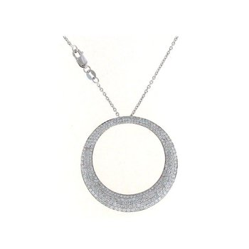 18KT WHITE GOLD LARGE DIAMOND PENDANT