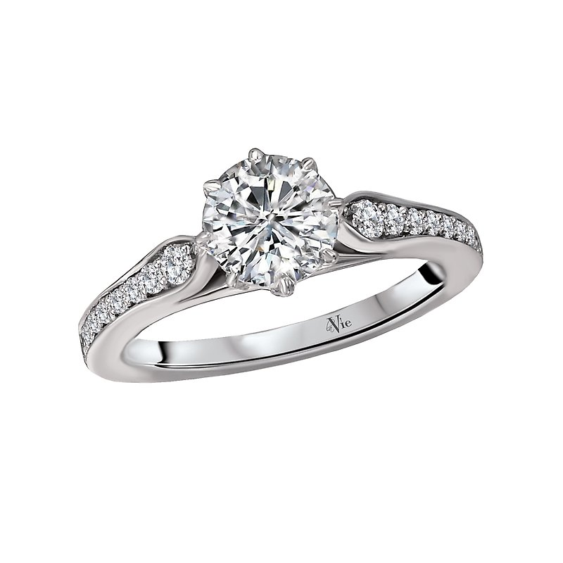 LaVie Vintage Semi-Mount Diamond Ring