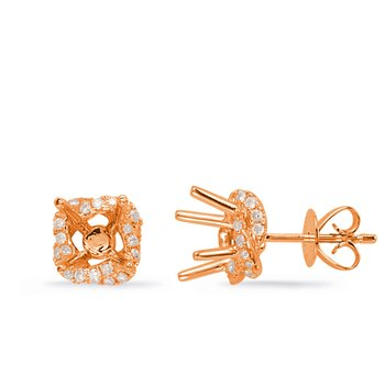 Rose Gold Diamond Earring for 2cttw
