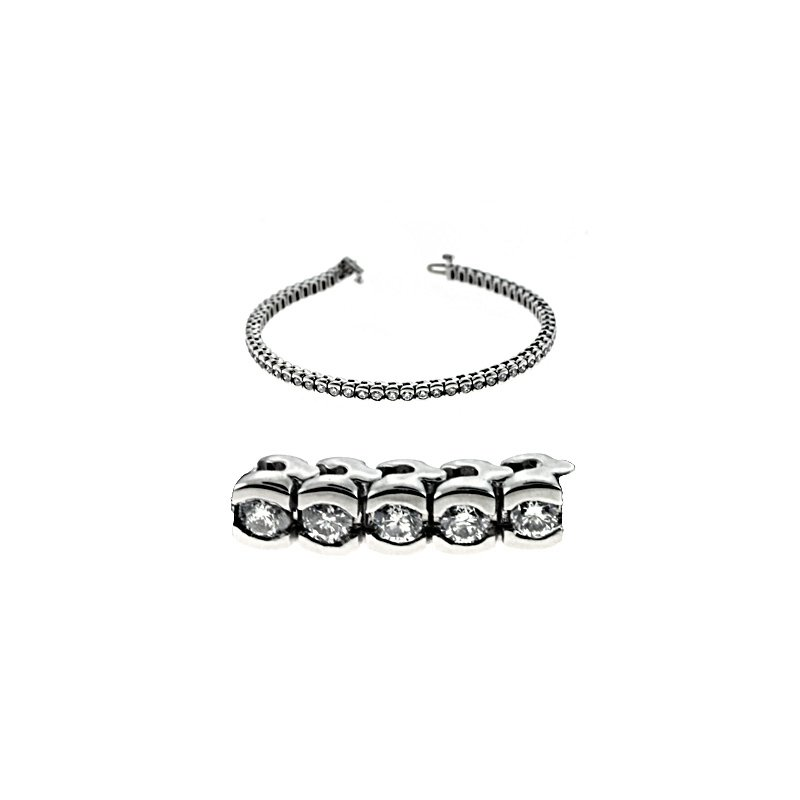 S. Kashi  & Sons Tube Tennis Diamond Bracelet