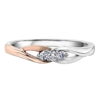 I am Canadian™ Diamond Ladies Three Stone Ring