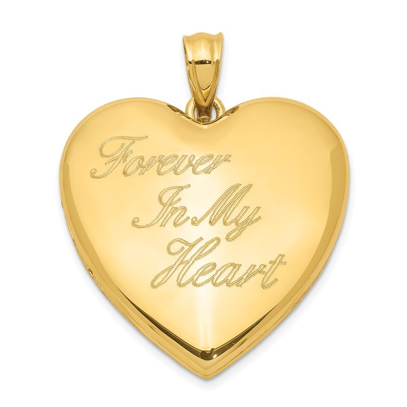 Quality Gold Sterling Silver Gold-tone Forever In My Heart Ash Holder Heart Locket