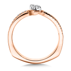 Valina Bridals Two-Stone Diamond Engagement Ring Moutning in 14K Rose Gold (.16 ct. tw.)