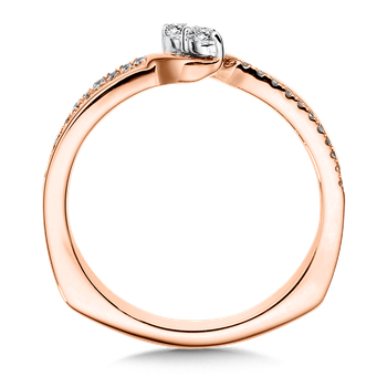 Two-Stone Diamond Engagement Ring Moutning in 14K Rose Gold (.16 ct. tw.)