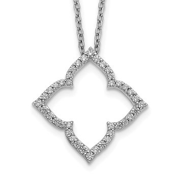 14k White Gold Diamond 18 inch Necklace