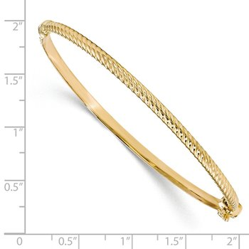 Leslie's 10K Polished Textured Bangle