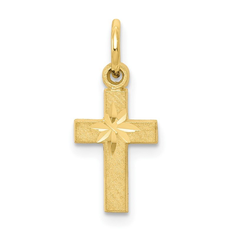 Quality Gold 10k Cross Charm