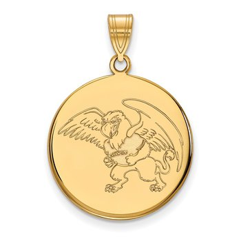 Gold-Plated Sterling Silver Missouri Western State University NCAA Pendant