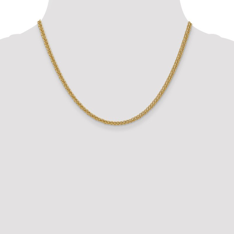 14k 2.6mm Semi-solid 3-Wire Wheat Chain