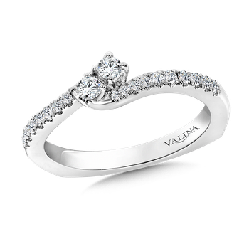 Two-Stone Diamond Engagement Ring Moutning in 14K White Gold (.25 ct. tw.)