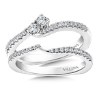Valina Bridals Two-Stone Diamond Engagement Ring Moutning in 14K White Gold (.25 ct. tw.)