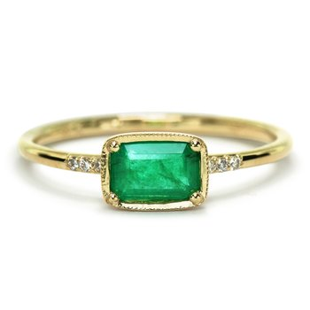 Karina Emerald Ring