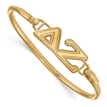 Gold-Plated Sterling Silver Delta Zeta Greek Life Bracelet