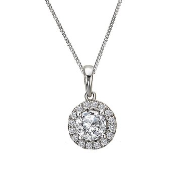 Ladies Fashion Semi-mount Diamond Pendant