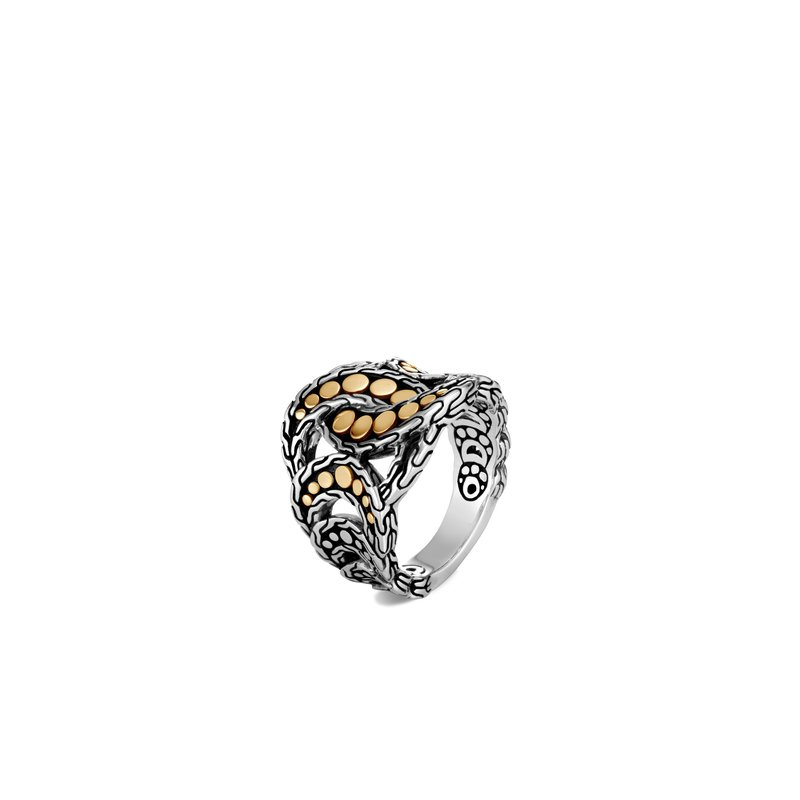 John Hardy Dot Ring in Silver and 18K Gold