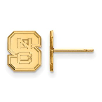 Gold North Carolina State University NCAA Earrings