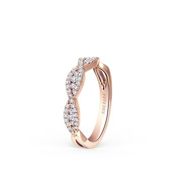 Ribbon Swirls Diamond Wedding Band
