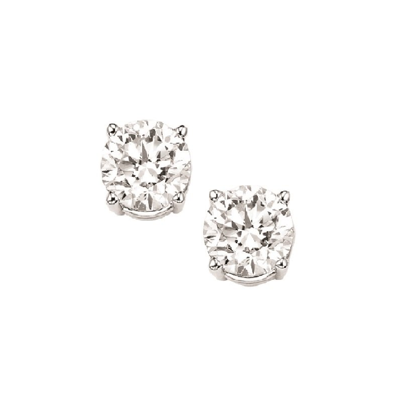 Gems One Diamond Stud Earrings in 18K White Gold (1/3 ct. tw.) I1 - G/H