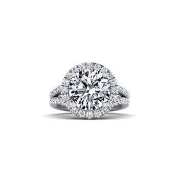 OMG Series Round Diamond Split Shank Engagement Ring