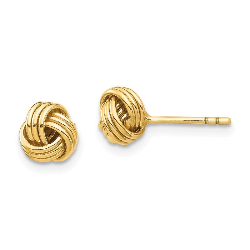Quality Gold 14K Love Knot Post Earring
