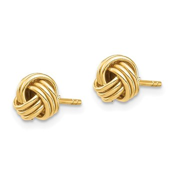 14K Love Knot Post Earring
