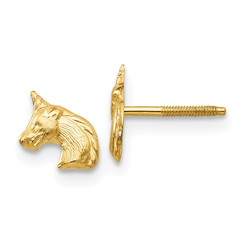Quality Gold 14k Madi K Unicorn Post Earrings