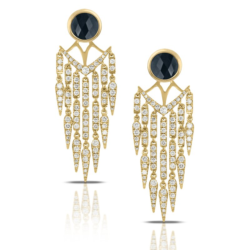 MAZZARESE Couture Gatsby Chandelier Earrings 18KY
