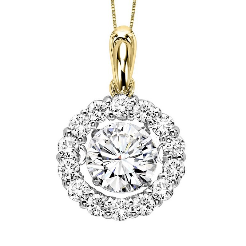 Rhythm of Love 14K Diamond Rhythm Of Love Pendant 1 1/4 ctw (1 ct Center)