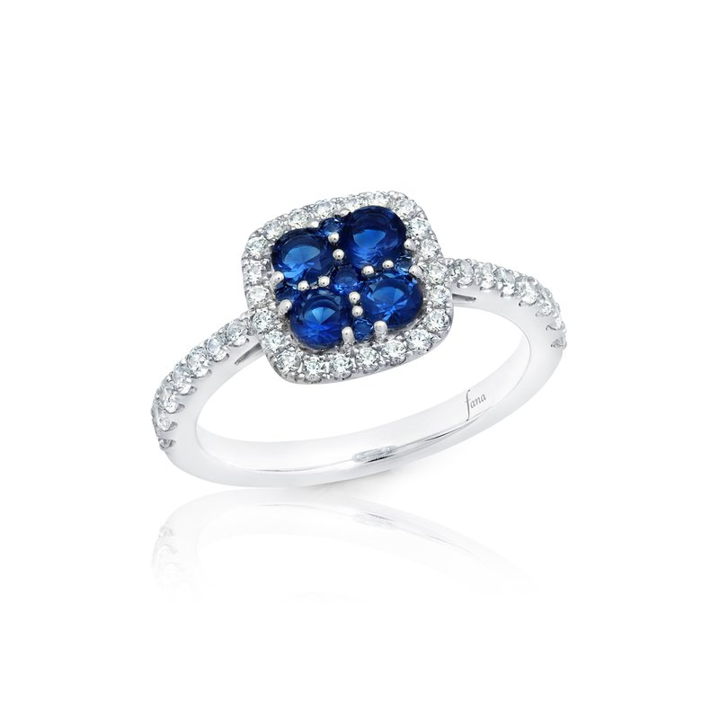 Fana Sweet Serenade Sapphire and Diamond Cluster Ring