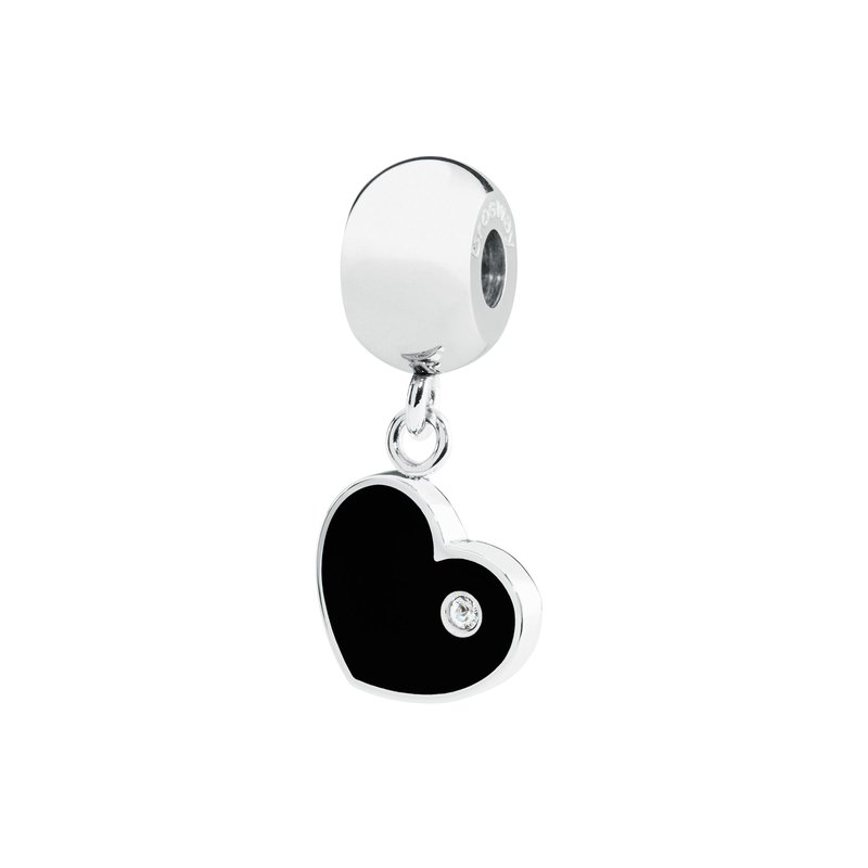 Brosway 316L stainless steel black enamel and Swarovski® Elements white crystal.