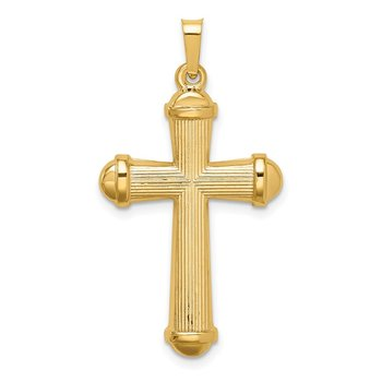 14k Hollow Polished Cross