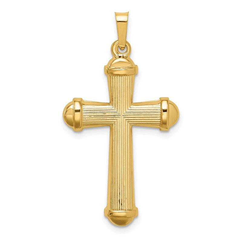 Quality Gold 14k Hollow Polished Cross