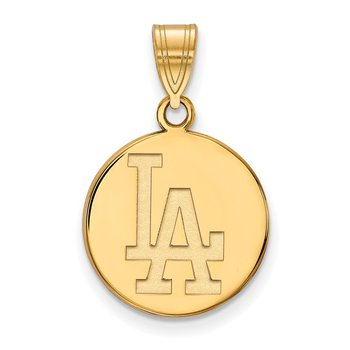 Gold-Plated Sterling Silver Los Angeles Dodgers MLB Pendant