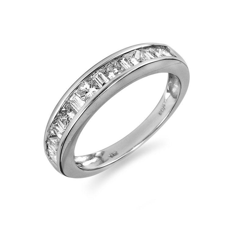 BB Impex 18K WG Diamond Wedding Band Ring