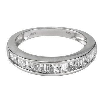 18K WG Diamond Wedding Band Ring