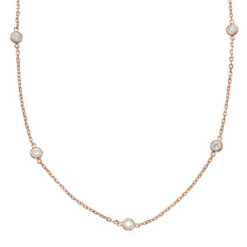 Rose Gold Diamond By The Yard Necklace