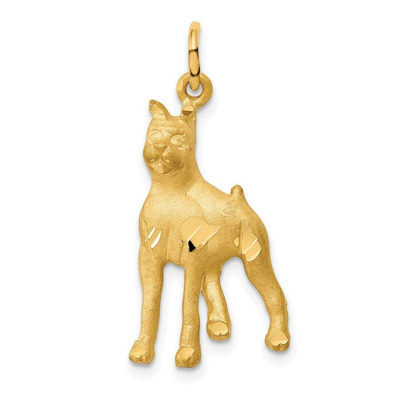 Quality Gold 14k Yellow Gold Solid Polished Boxer Charm