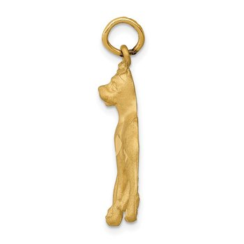 14k Yellow Gold Solid Polished Boxer Charm