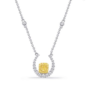 Yellow & White Gold Yellow Dia Necklace