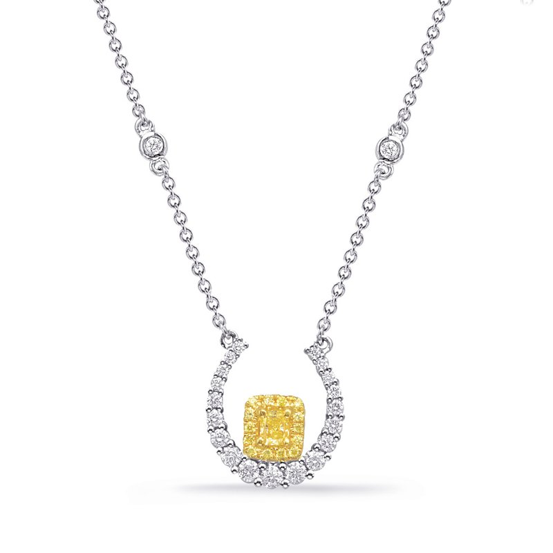 S. Kashi  & Sons Yellow & White Gold Yellow Dia Necklace